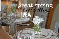 Spring tablesetting idea