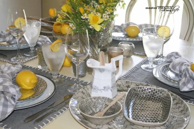 Lemon inspired tablescape12