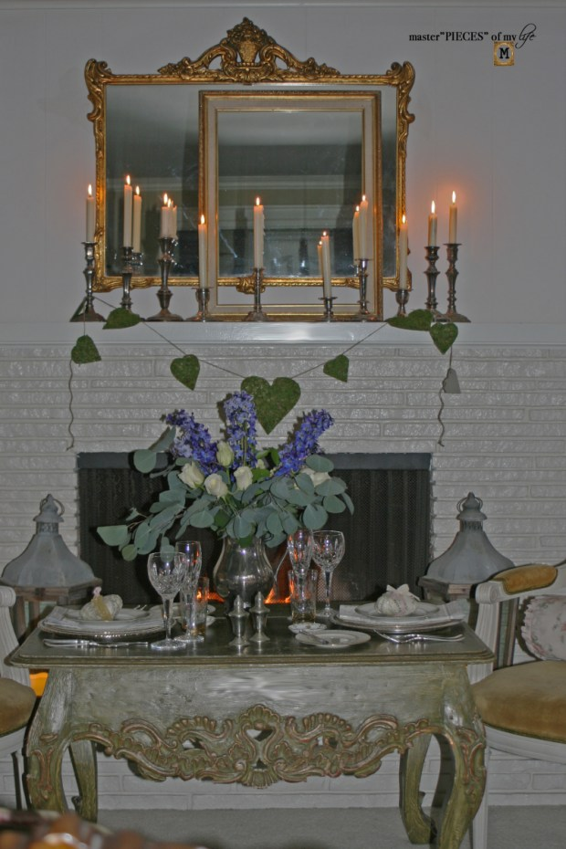 Fireside romantic table 4 two 9