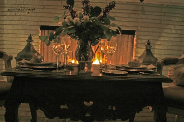 Fireside romantic table 4 two 11