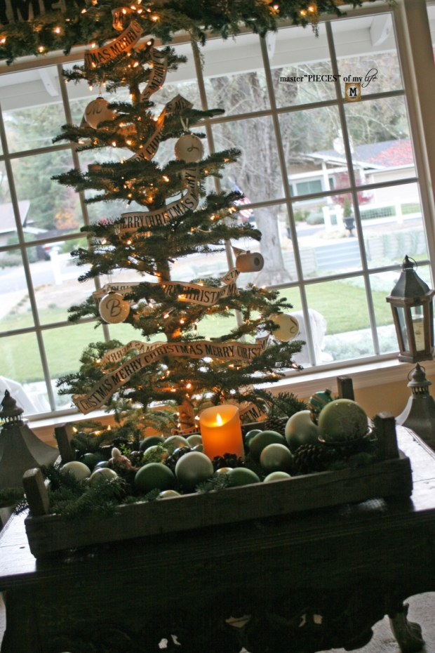 A trimmed christmas tree1