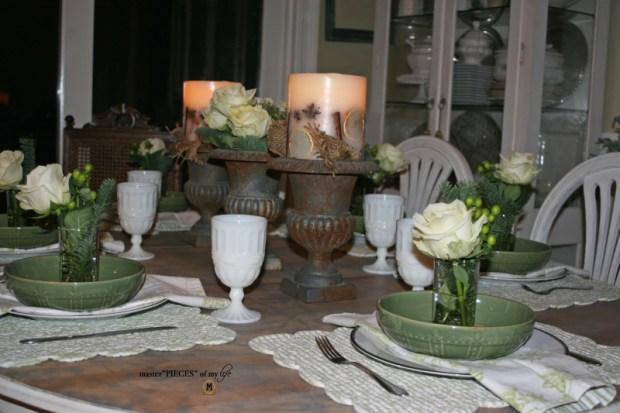 Winter greens tablescape1