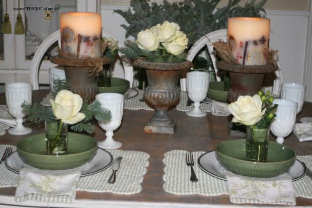 Winter greens tablescape2