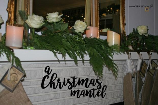 A christmas mantel