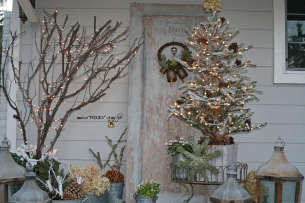 A vintage door & a petite Christmas tree3