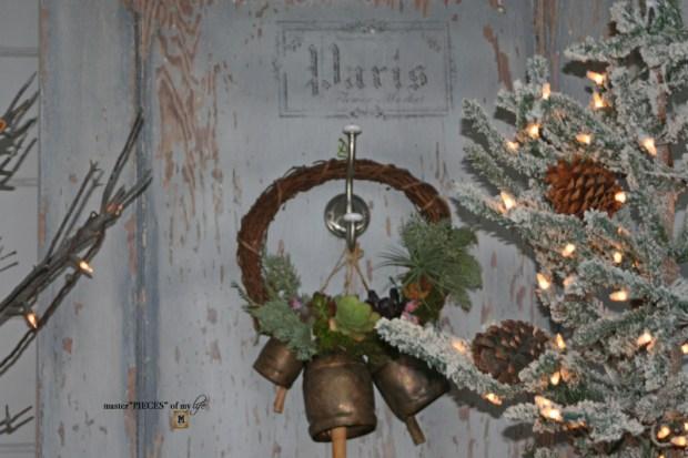 A vintage door & a petite Christmas tree5