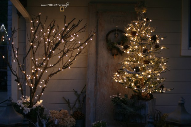 A vintage door & a petite Christmas tree11