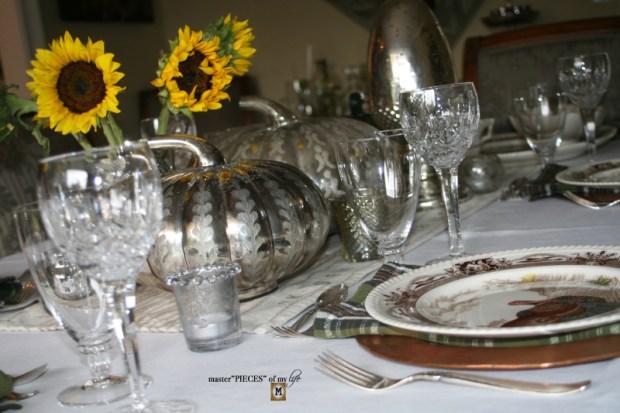 Mercury glass friendsgiving tablescape2