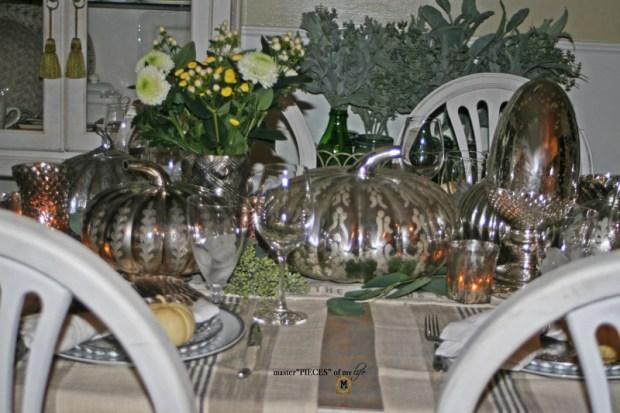 Mercury glass friendsgiving tablescape7