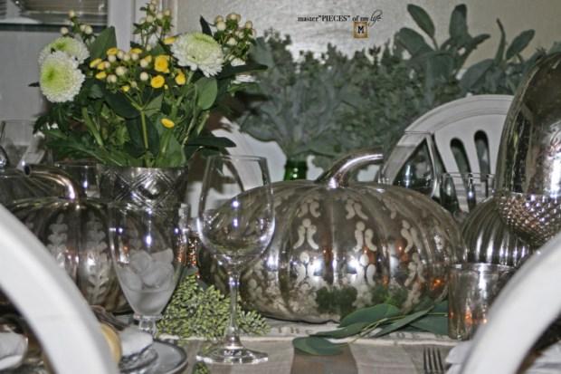 Mercury glass friendsgiving tablescape11