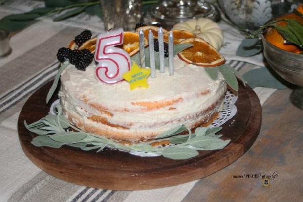 On the menu - orange  naked cake11