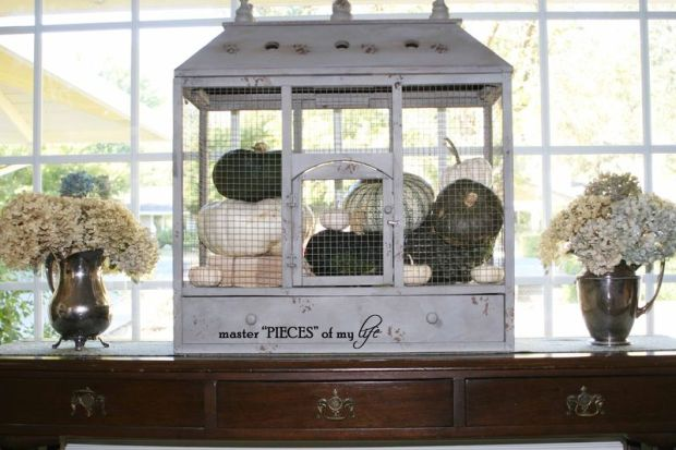 Pumpkin birdcage