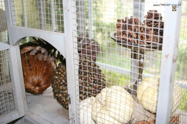 Thru the seasons - ornamental birdcage 6