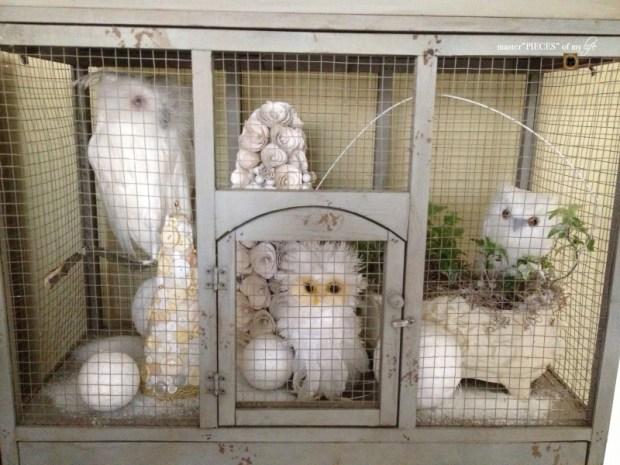 Thru the seasons - ornamental birdcage 9