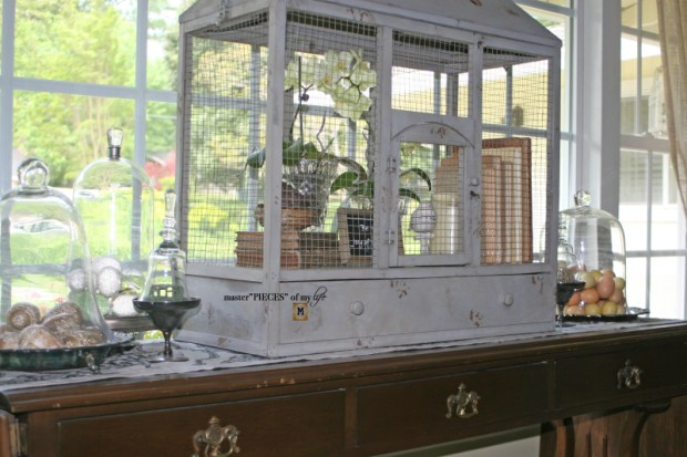 Thru the seasons - ornamental birdcage 12