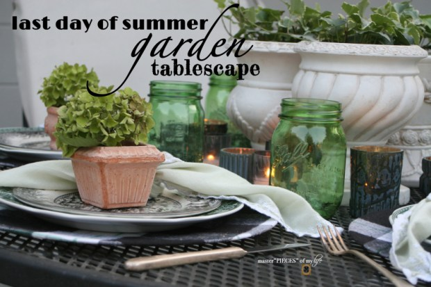 Last day of summer garden tablescape
