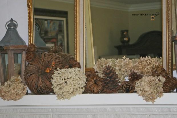 Rustic autumn mantel 2