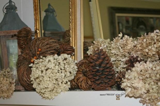 Rustic autumn mantel 5