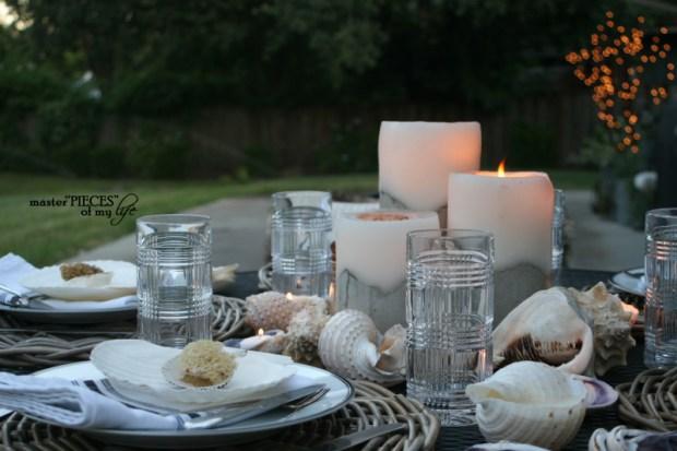 Seashell tablescape 8