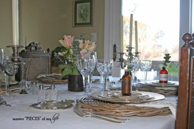 Romantic tablescape for 4-7