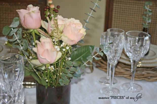 Romantic tablescape for 4-12