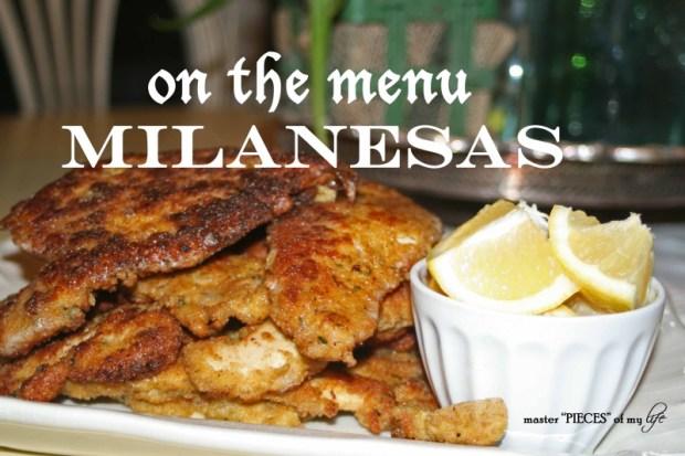 On the menu-milanesas