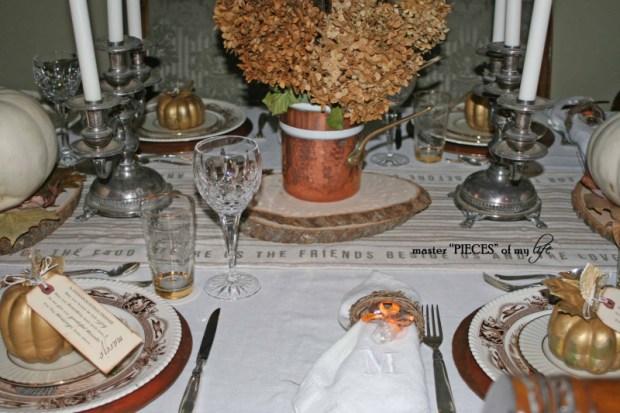 Thanksgiving tablescape mixed metals1
