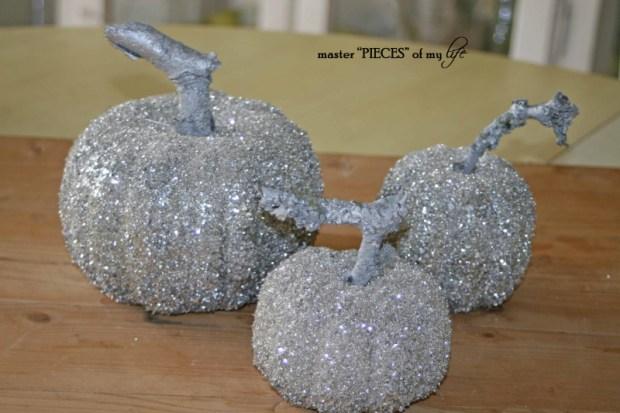Glitter pumpkins 1