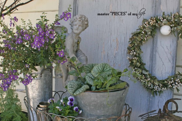 Metal pumkins garden1