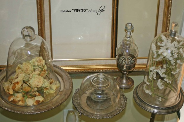Cloches & dried flowers8