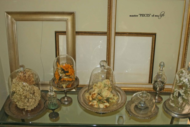 Cloches & dried flowers16