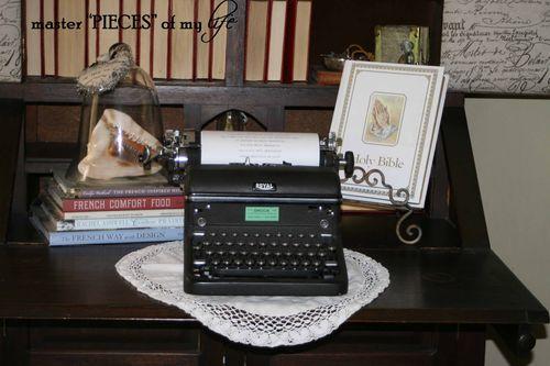 Typerwriter seashells