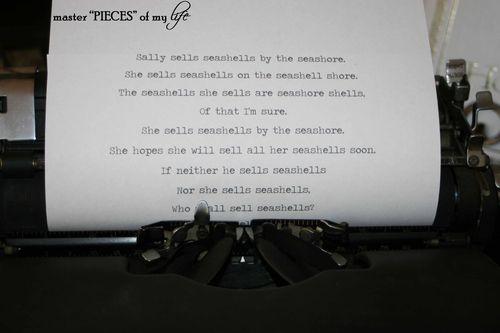 Typerwriter seashells 2