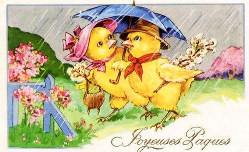 Easter raining chicks