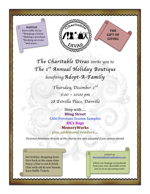 Holiday boutique flyer