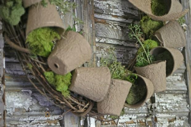 Spring grower pot wreath 2