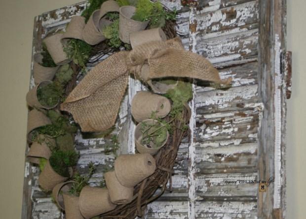 Spring grower pot wreath 4