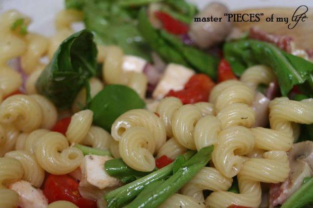 Pasta salad closeup
