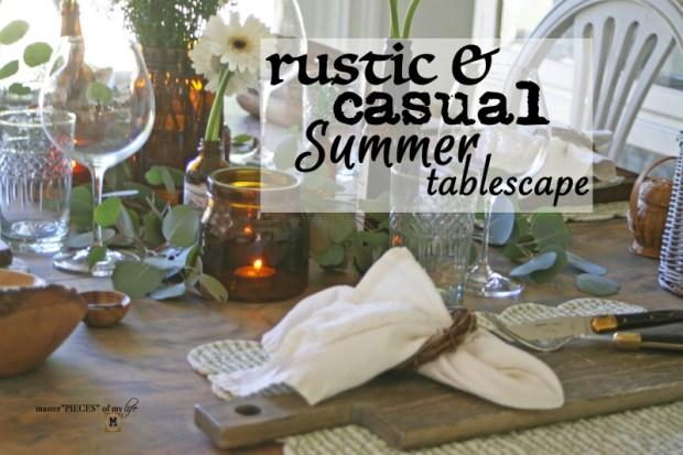 Rustic casual summer tablescape1
