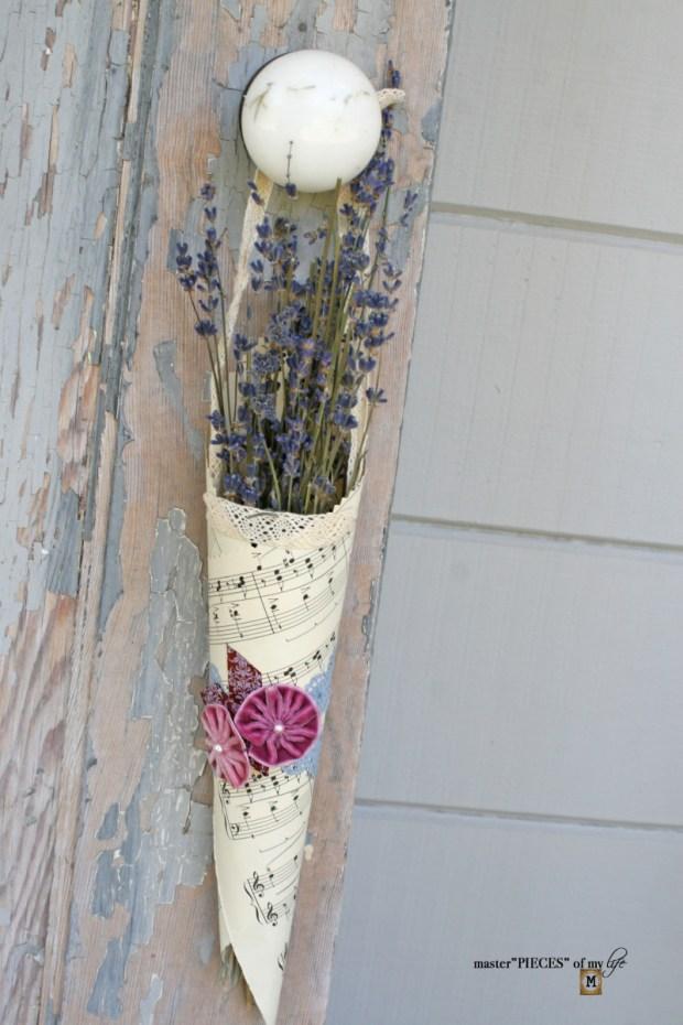 Floral cone bouquets DIY 6
