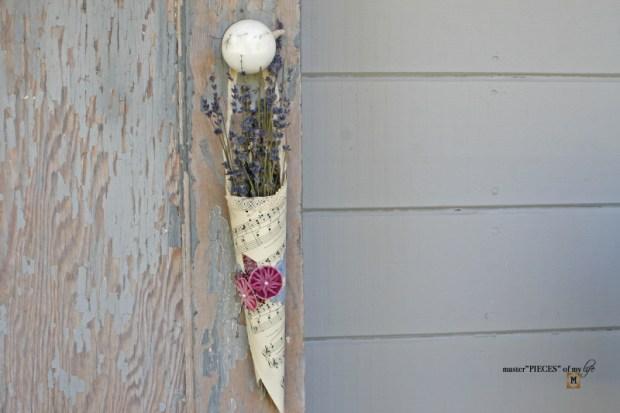 Floral cone bouquets DIY 7
