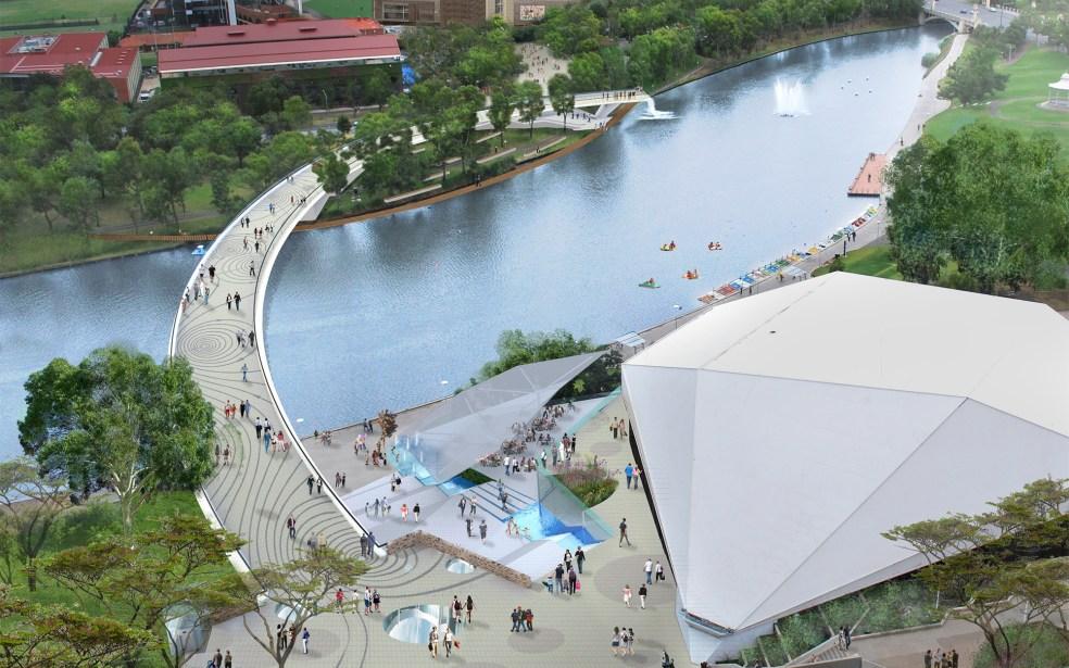 TMasterPlan project riverbank bridge adelaide