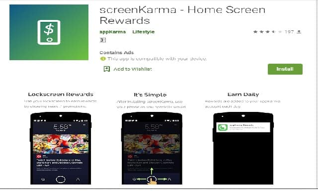 Aplikasi android AppKarma