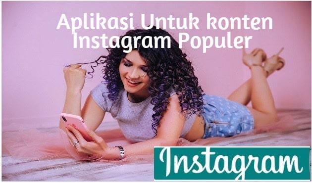 Aplikasi Untuk konten Instagram