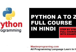 python full couse in hindi
