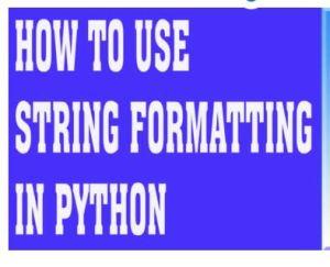 pythonstringformat
