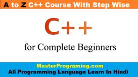C++ Programming Course in hindi