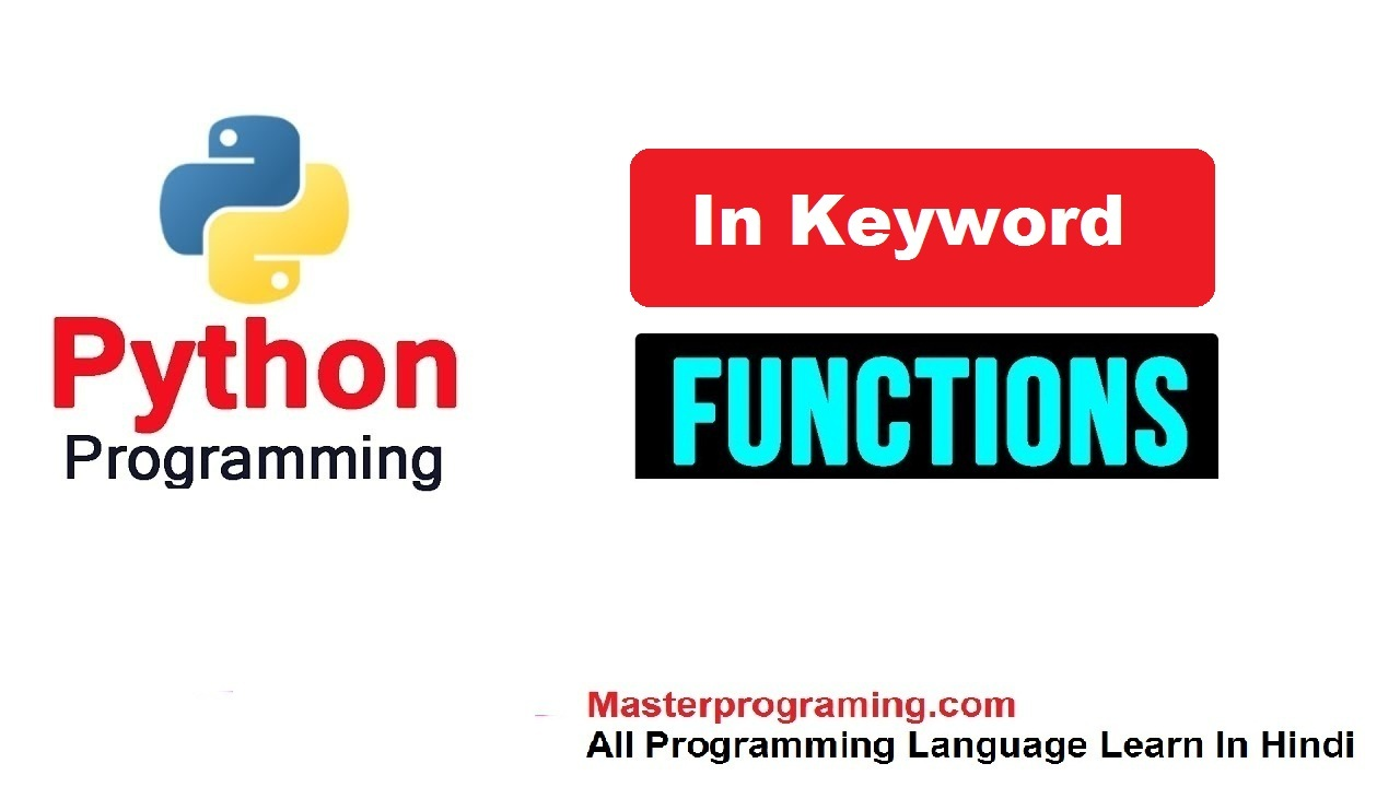 in keyword in python