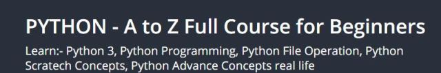 Python Tutorial In Hindi