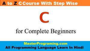 c programming full course in hindi